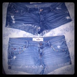 2 pair Hollister denim jeans size 27